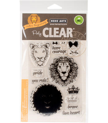 Hero Arts® 14 pk Clear Stamps 4''x6''-Color Layering Brave Lion