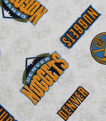 "Denver Nuggets Cotton Fabric 44""-Logo Toss"