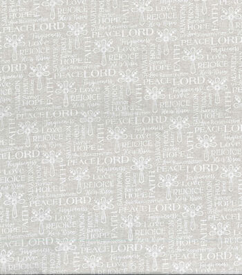 Easter Cotton Fabric 43''-White Cross