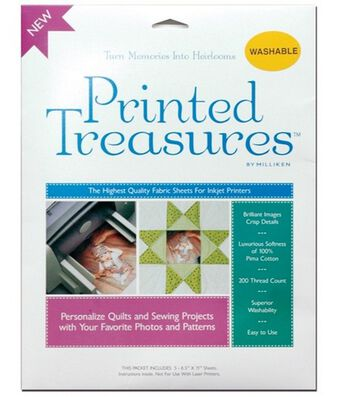 Prym Dritz Printed Treasures Printer Fabric Sheet Sew-In