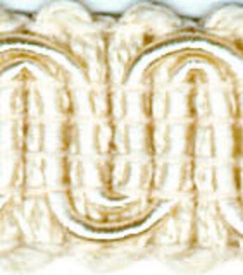 Wav 1/2in Oyster Scroll Gimp