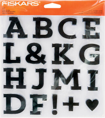 Fiskars® Clear Stamps-Block Monogram A to M