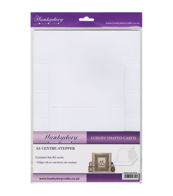 Hunkydory Silk Art Shaped Cards With Envelopes White Center Stepper