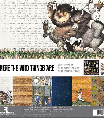"""Paper House Paper Crafting Kit 12""""X12""""-Where The Wild Things Are"""