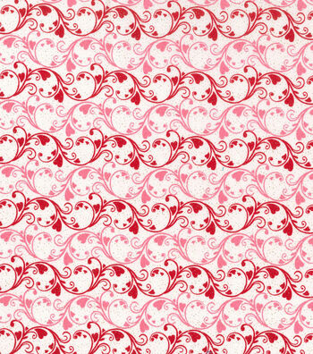 Holiday Inspirations™ Valentine's Day Fabric 43''-Scrolly Hearts