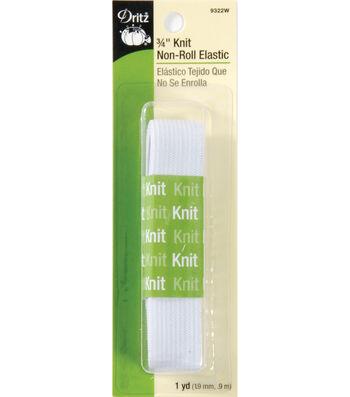 3/4in Knit Non Roll Elastic 1yd