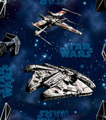 """Star Wars™ Cotton Fabric 44""""-Ships"""