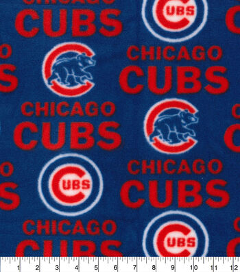 Chicago Cubs Fleece Fabric 58''-Tossed