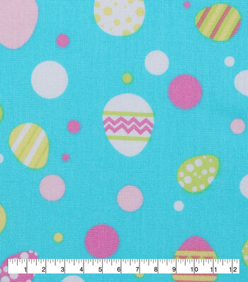 "Easter Cotton Fabric 53""-Easter Egg Multi Dot"