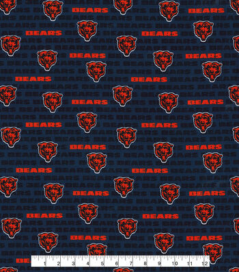 "Chicago Bears Cotton Fabric 58""-Mini Print"