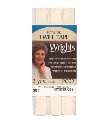 Wrights Twill Tape-1/2'' x 3yds