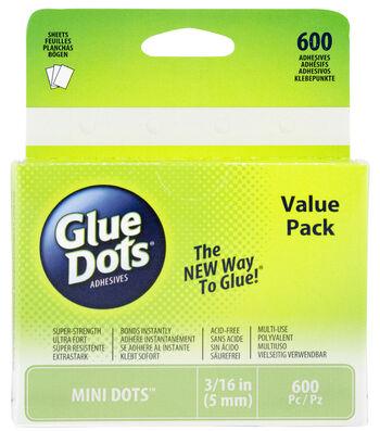 "Glue Dots 3/16"" Dots School Value Pack-600PK/Mini"