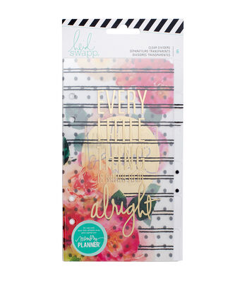 Heidi Swapp Personal Memory Planner Dividers-Clear with Gold Foil