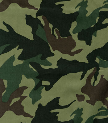 "Fabric 56""-Moss Green Leaf Camouflage"
