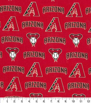 "Arizona Diamondbacks Cotton Fabric 58""-Logo"