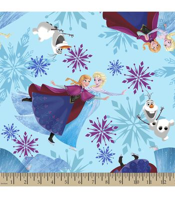 Disney® Frozen Print Fabric-Ice Skating