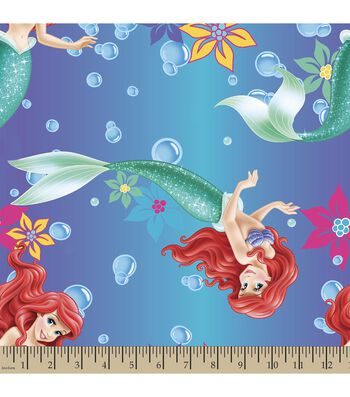 Disney® Princess Print Fabric-Ariel Ombre
