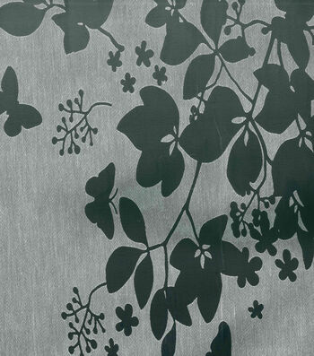 Cape May Fabric 44''-Burnout White Butterfly