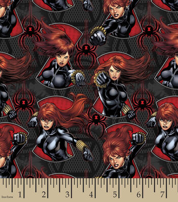 "Marvel Comics™ Cotton Fabric 43""-Black Widow Serious Business"