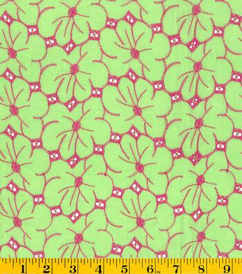 "Summerville Eyelet Fabric 57""-Floral"