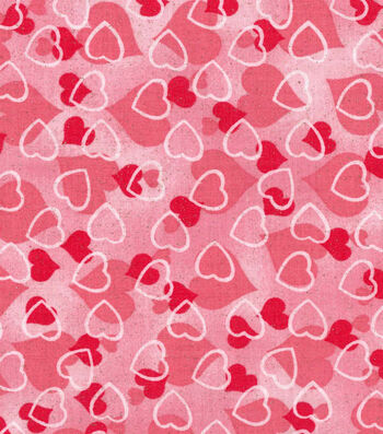 Holiday Inspirations™ Valentine's Day Glitter Fabric 43''-Hearts