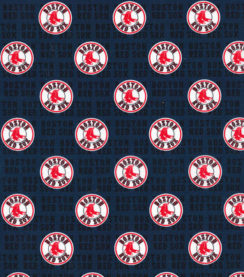 "Boston Red Sox Cotton Fabric 58""-Mini Print"