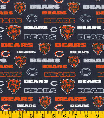 "Chicago Bears Cotton Fabric 58""-Glitter"