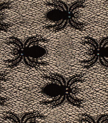 "The Witching Hour Halloween Mesh Fabric 53""-Spider"