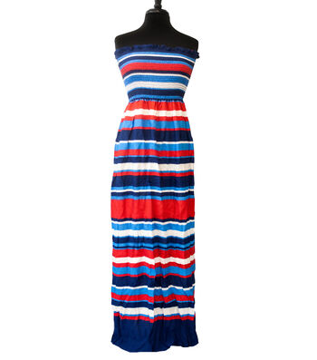 """Style In An Instant Rayon Challis Smocked Fabric 53""""-Variegated Stripe"""