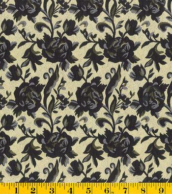 "Gertie Collection Jacquard Fabric 56""-Metallic Black"
