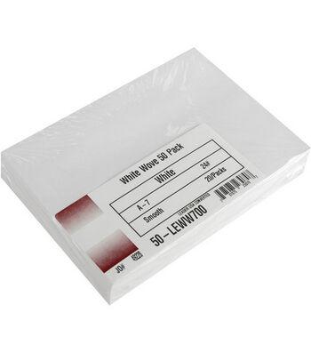 """Leader A7 Envelopes (5.25""""X7.25"""") 50/Pkg-White"""