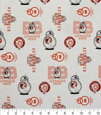 """Star Wars™: The Force Awakens Cotton Fabric 42""""-BB8"""