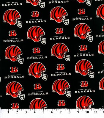Cincinnati Bengals Cotton Fabric 58''-Helmet Logo