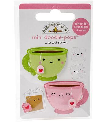 Doodlebug Doodle-Pops 3D Stickers-Cream & Sugar Tea For Two