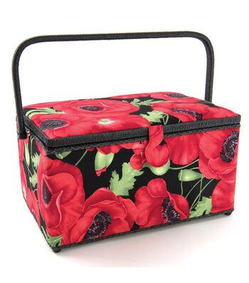 Extra Large Rectangle Sewing Basket-Poppy