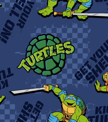 "Nickelodeon® Teenage Mutant Ninja Turtles® Fleece Fabric 59""-Kickin It Turtle Style"
