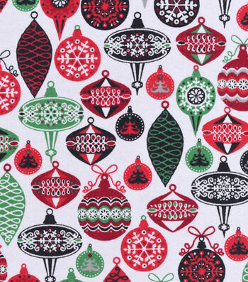 "Snuggle Flannel Fabric 42""-Colorful Ornaments"