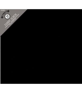 """Colorbok Fabric Post Bound Album 12""""X12""""-Black"""