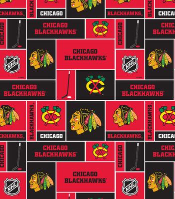 "Chicago Blackhawks Fleece Fabric 60""-Block"
