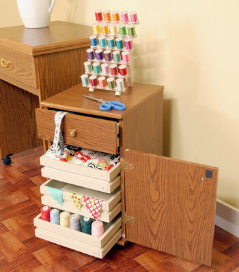 Homespun Suzi Oak Storage Unit