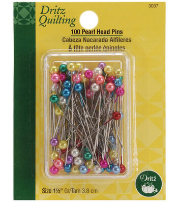"Dritz Quilting Pearl Head Pins 1-1/2""-100/Pkg"