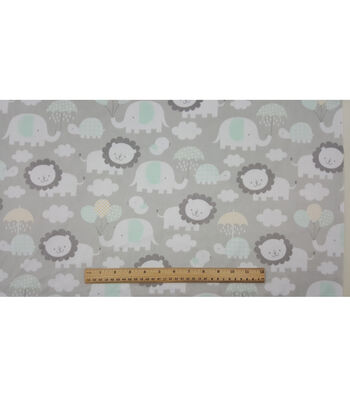 "Soft & Comfy Nursery Fabric 57""-Elephant Raishowers"
