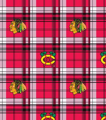 "Chicago Blackhawks Fleece Fabric 60""-Plaid"
