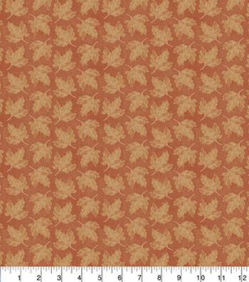 "Harvest Cotton Fabric 43""-Maple Leaves Rust"