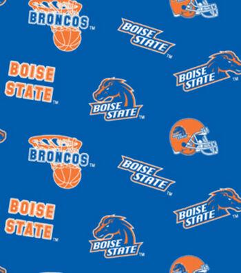 "Boise State University Broncos Cotton Fabric 43""-Allover"