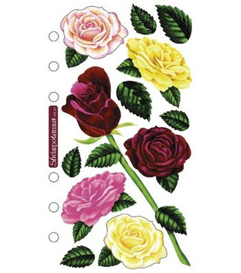 Sticko Vellum Stickers-Roses