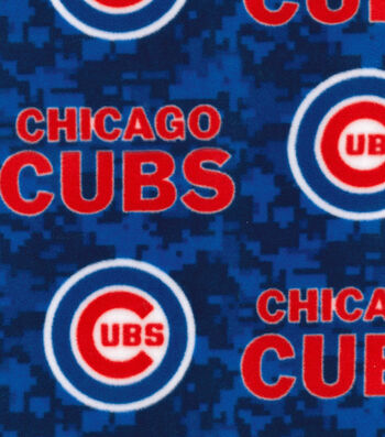 Chicago Cubs Fleece Fabric 58''-Digital Camo