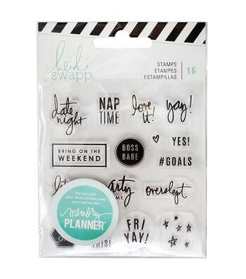 Heidi Swapp Memory Planner Pack of 16 Clear Stamps-Weekend