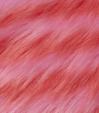 "Fashion Faux Fur Fabric 59""-Pink & Orange"