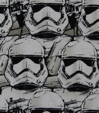 """Star Wars™: The Force Awakens Cotton Fabric 44""""-Packed Stormtrooper"""